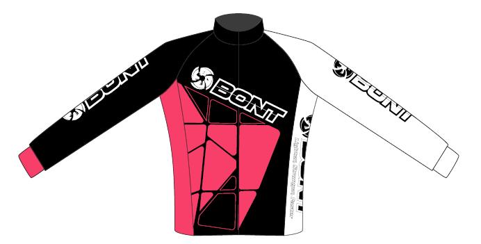 Bont Coolmax soojendusjakk  roosa/must/valge
